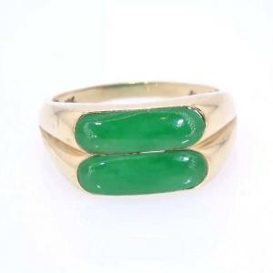 14 karat Gold and Jade Ring