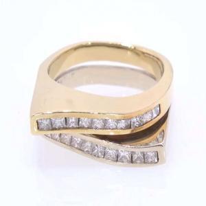 14 karat Gold and Channel Set Diamond Ring