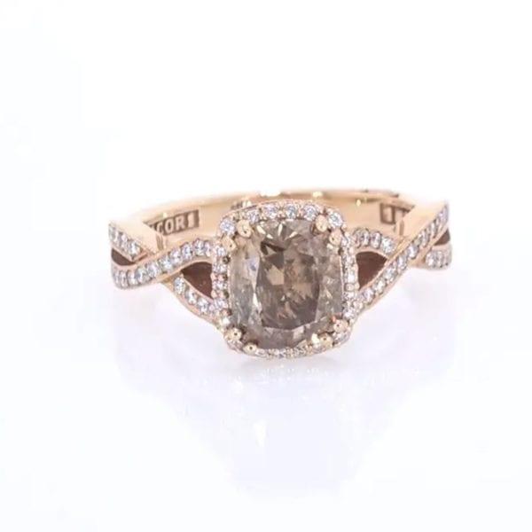 Tacori Chocolate and White Diamond Ring