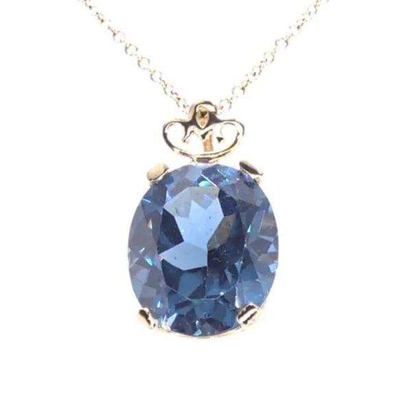 Blue Zircon Pendant