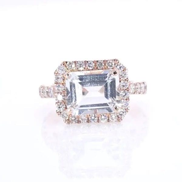 Topaz and Diamond Ring