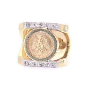 Mexican Peso and Diamond Ring