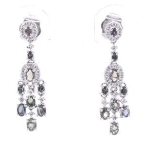 Alexandrite and Diamond Earrings