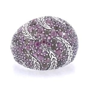 John Hardy Amethyst, Spinel and Iolite Ring