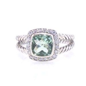 David Yurman Praisolite and Diamond Ring