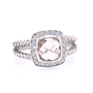 David Yurman Morganite and Diamond Ring