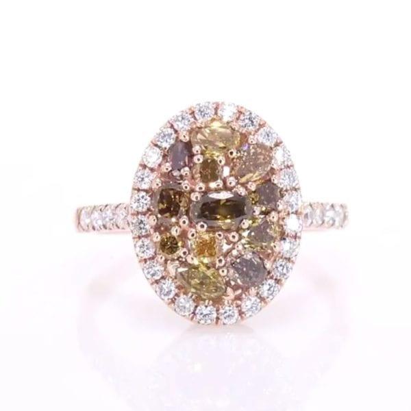 Chocolate and White Diamond Ring