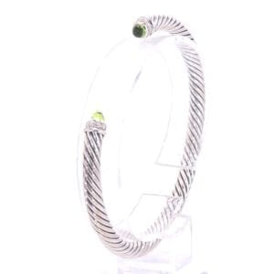 David Yurman Peridot and Diamond Bracelet
